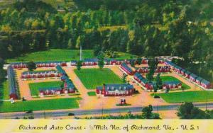 Virginia Richmond Richmond Auto Court 1958