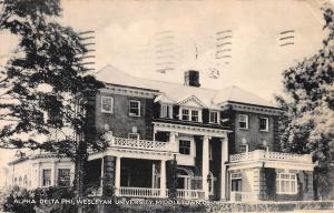 Alpha Beta Phi, Wesleyan University, Middletown,Connecticut, 1945 Postcard, Used