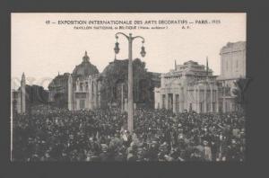 087078 FRANCE Exposition Pavillon National de Belgique Vintage