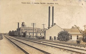 F81/ Columbus Wisconsin RPPC Postcard 1911 Power House Canning Factory