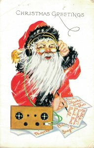 Christmas - Greetings Wishes Santa Claus Writing Letters 04.25
