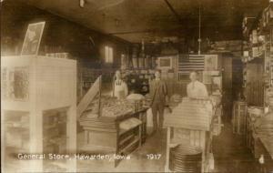 Hawarden IA General Store Interior 1917 - c1960s-70s REPRODUCTION RPPC PC