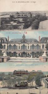 Boulogne Sur Mer Casino France 3x Antique French Postcard s