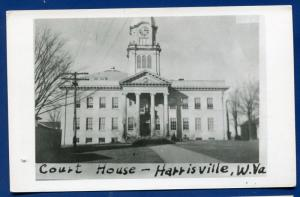 Harrisvile court house west virginia wv real photo postcard