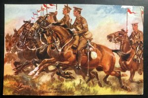 Mint England Tuck's Picture Postcard A Charge For The Hill