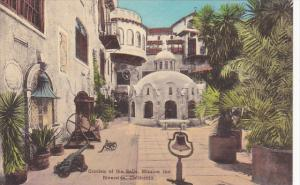 Garden Of The Bells Mission Inn Riverside California Handcolored Albertype