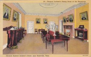 Tennessee Nashville General Jackson's Dining Room At The Hermitage 1952 ...