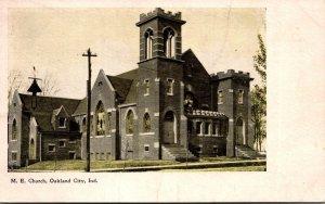 Indiana Oakland City Methodist Episcopal Church