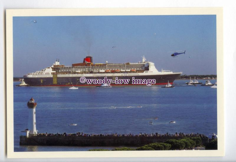 LN1172 - Cunard Liner - Queen Mary 2 , built 2004 - postcard dep sea trials