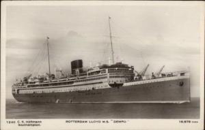 Steamship Rotterdam Lloyd MS Dempo c1920 Real Photo Postcard