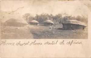 Natal South Africa Village Huts Real Photo Antique Postcard (J26667)