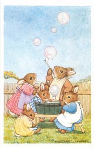 Soap Bubbles by Margaret Tempest Antropomorphic Rabbits