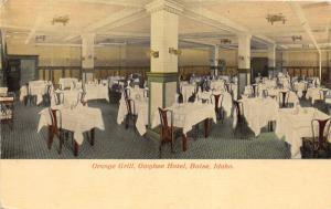 F7/ Boise Idaho Postcard c1910 Orange Grill Interior Owyhee Hotel