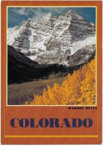 US Colorado. Maroon Bells.  Mint Card. Beautiful Colorado. 1983