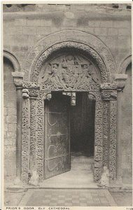 Cambridgeshire Postcard - Prior's Door - Ely Cathedral   2801