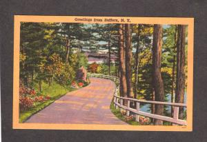 NY Greetings From Suffern New York Linen Postcard