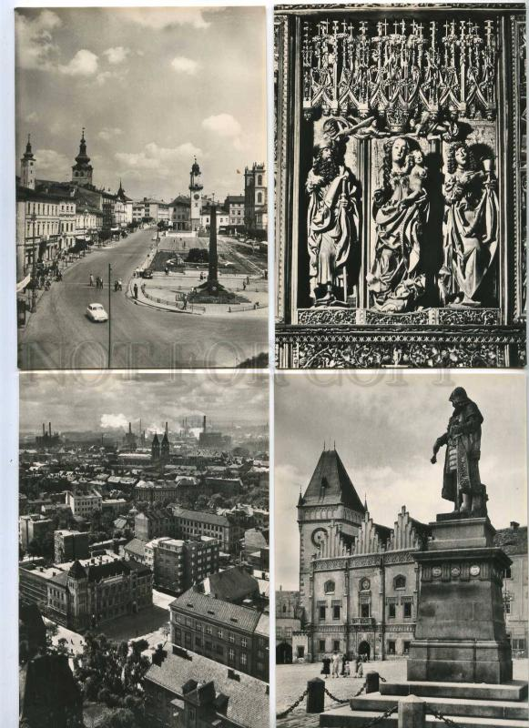 239768 Greetings from Czechoslovakia towns SET of 12s in COVER