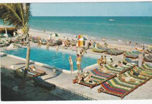 MIAMI BEACH, Florida, 1940-1960's; Swimming Pool, Sun City Hotel