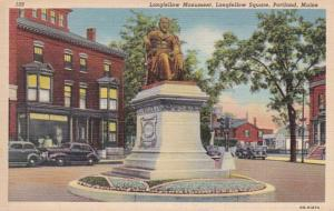 Maine Portland Longfellow Square Longfellow Monument Curteich