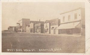 RP: West Side Main Street , RADVILLE , Saskatchewan , Canada , PU-1916