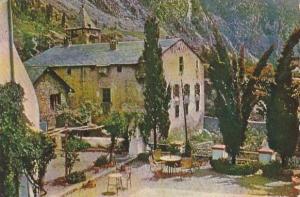Andorre la Vieille: Maison du parlement ,PU-1958 PENTOTHAL SODIUM ADV on back...