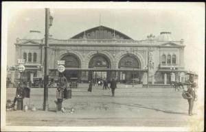 chile, SANTIAGO, Estacion Mapocho, Station (1930s) RPPC Nafta