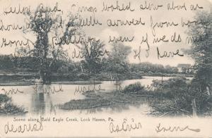 Along Bald Eagle Creek - Lock Haven PA, Pennsylvania - pm 1907 - DB