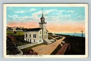 Mackinac Island MI-Michigan, Old Mission Church, Vintage Postcard