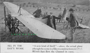 1909 England RPPC: Bleriot's Landing Reconstructed, White Cliffs of Dover