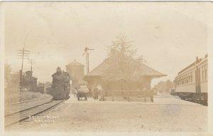 RP: ARCADIA , Kansas , 1912 ; Train at Railroad Station