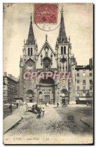 Old Postcard Lyon Saint Nizier