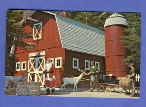 Santa's Village Postcard, Old Red Barn, Jefferson, NH