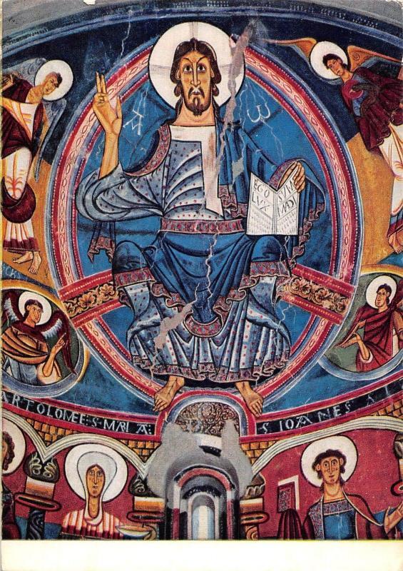 San Clemente De Tahuell S Xii Pantocrator Pantokrator Hippostcard