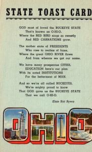 Ohio State Toast Card Curteich