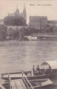 Switzerland Basel Pfalz mit Rheinfaehre