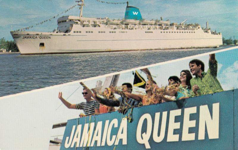 JAMAICA, PU-1968 ; Jamaica Queen Cruise ship