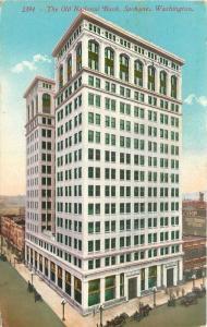 Spokane Washington~Old National Bank~Cafe~Henry George 5 Cent Cigar Sign~1913