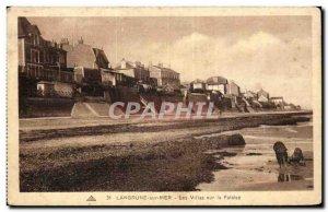 Langrune sur Mer Old Postcard The villas on the cliff