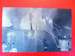 Postcard PA Harrisburg Rutherford 1976 Grocery Store Fire Department