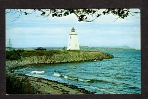 NB Le Phare Lighthouse Light  Dalhousie NEW BRUNSWICK  Postcard Carte Postale