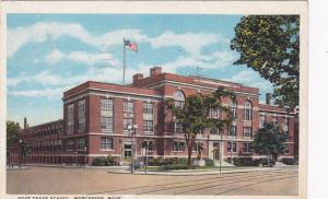 Exterior,Boys Trade School,Worcester,Massachusetts,PU-1934