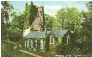 United Kingdom, Cockington Church, Torquay, 1908 used