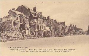 France Peronne Apres le passage des boches Les Ruines d'un quartier