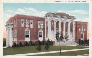 Oklahoma Durant Library State Teachers College Curteich