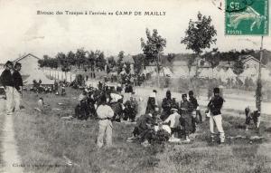 Military WW1 Bivouac des Troupes a l'arrivee au Camp de Mailly 01.37