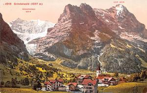 Switzerland Old Vintage Antique Post Card Grindelwald Unused