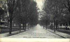 Grove Ave. Leominster MA Postal Used Unknown