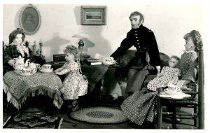 Tasha Tudor's Old Fashioned Dolls. Tea Party  RPPC