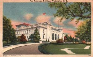 Washington, DC, Pan American Building, Linen Antique Vintage Postcard g9299