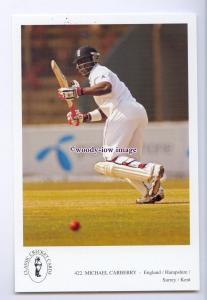 su3580 - Inter. Cricketer - Michael Carberry, England/Hants/Surrey - postcard